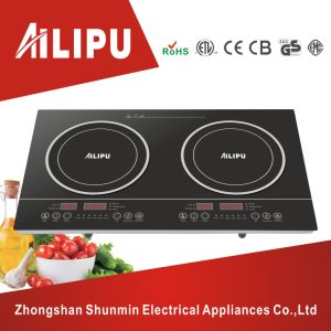 4000W Plastic Housing and Touch Screen Double Burner Induction Cooker/Induction Cooktop pictures & photos