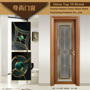 Sandalwood Grain Interior Decoration Aluminium Doors pictures & photos