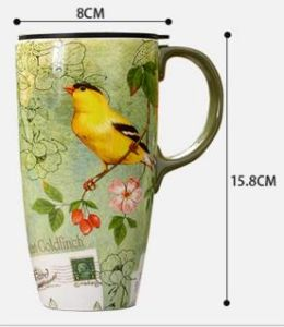 Flower Pattern Ceramic Mug, Enamel Mug, Porcelain Coffee Cup Gift Bone China Cup pictures & photos