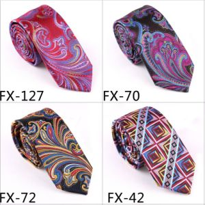 New Design Fashionable Novelty Paisley Necktie (Fx-127) pictures & photos
