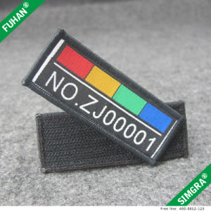 Rectangle Shape Overlock Stitch Woven Patch pictures & photos
