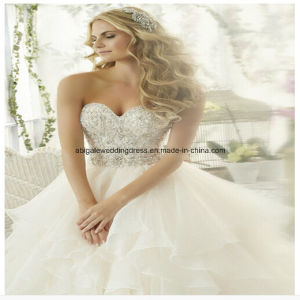 Ball Gown Strapless High Quality Court Train Wedding Dresses Ruffles