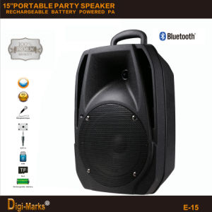 Best Factory Outdoor PA Active DJ Party Trolley Portable Loudspeaker pictures & photos