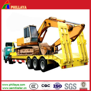 Durable 3 Axles Low Loader Semi Trailer for Bulldozer Transportation pictures & photos