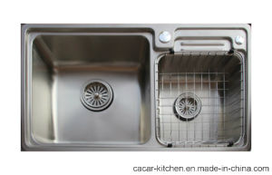 Cacar Easy Cleaning Stainless Steel Kitchen Sink with Wire Mesh (SC8146A) pictures & photos