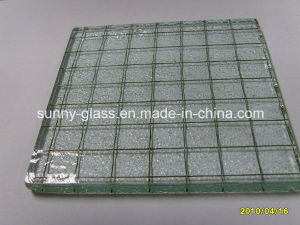 6mm Clear Wired Nashiji Patterned Glass /Wire Nashiji Glass pictures & photos