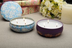 High Quality Home Decoration Solid Wax Metal Candle pictures & photos