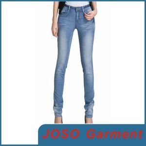 Women Slim Fit Denim Trousers (JC1063) pictures & photos