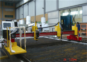 CNC Single and Double Drive Plasma Cutting Machine (CNCI-4000) pictures & photos