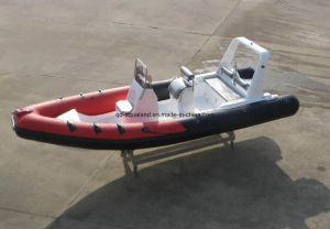 China Aqualand 20feet 6.2m Rigid Inflatable Fishing Boat/Fiberglass Rib Boat/Speed/Rescue/Patrol (RIB620D) pictures & photos