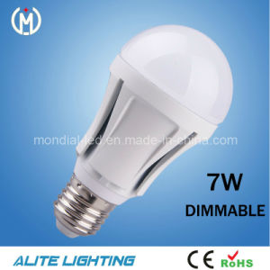 CE Approved A60 E27 Dimmable LED Bulb (AB01-7WD)