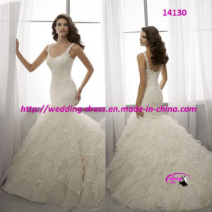 Mermaid Princess Full Length Wedding Bridal Dress pictures & photos