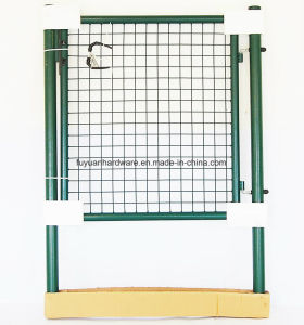 Green Color Metal Decoration Double Swing Fence Gate pictures & photos