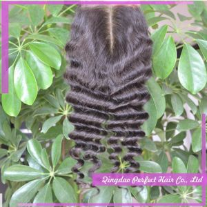 Free Shipping Unprocessed Peruvian Bleached Knot Closure pictures & photos