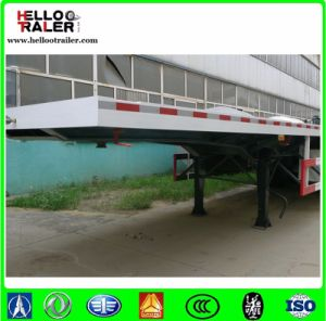 40FT Flatbed Truck Trailer Container Semi Trailer 40t Flatbed Semi Trailer pictures & photos