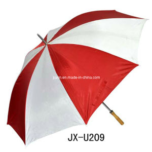 Red and White Golf Umbrella (JX-U209)