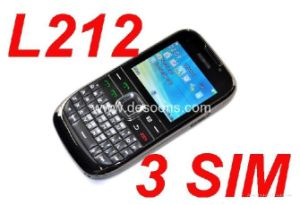 C3 Shape TV Three SIM Cards Mobile Phone (L212)