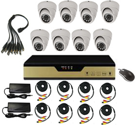 8CH DVR Kit with 8 Cameras and 4CH D1 4CH CIF Realtime Display pictures & photos