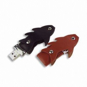 Leather USB Flash Drive (UF-404) pictures & photos