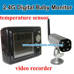 2 4g digital baby monitor with camera built in battery supportingt video recording range 200m. Black Bedroom Furniture Sets. Home Design Ideas