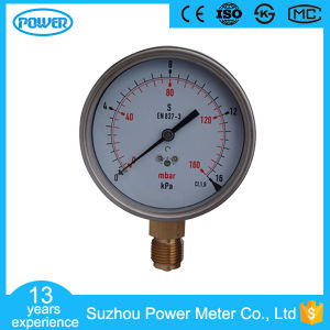 100mm Stainless Steel Wika Type 16kpa Capsule Pressure Gauge with Zero Hole pictures & photos