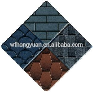 Self Adhesive Mosaic Asphalt Roof Shingle /Colorful Fibreglass Roof Tile /Bitumen Roofing Material with ISO pictures & photos