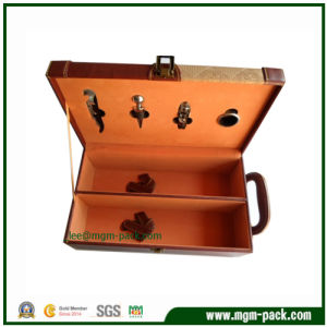Hot Sale PU Leather Wine Set Box pictures & photos