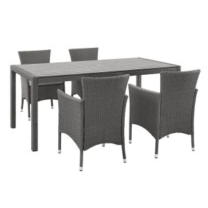 Well Furnir T-009 Family Gather Home 5-Piece Rattan Patio Dining Set pictures & photos