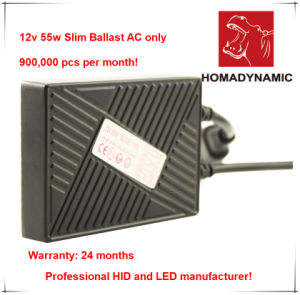 12V/24V 55W Slim Ballast Quick Start HID Xenon Ballast with 24 Months′ Warranty pictures & photos