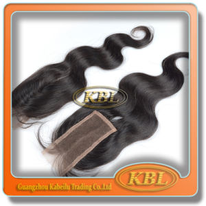 Quality Virgin Bohemian Hair Free Parting Bangs Lace Closure pictures & photos