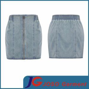 Women Denim Zipper Fly Front Skirts (JC2109) pictures & photos