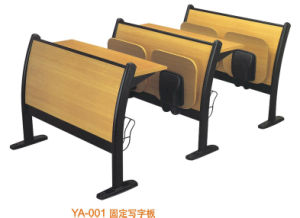Hotsale Wood School Desk with Folded Chair (YA-001) pictures & photos