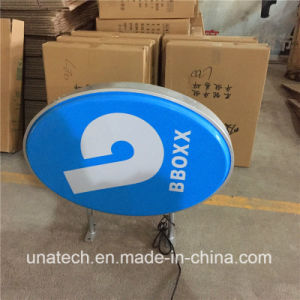 Vacuum Plastic Oval Double Side Semi-Outdoor Harley LED Billboard Light Box pictures & photos