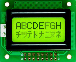 8X2 Stn Transfletive Character LCD Module with Yellow-Green Backlight (TC802A-01)