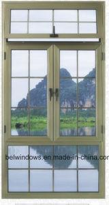 Fashionable Design Aluminum Casement Window with Grille