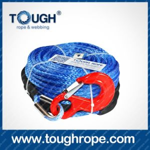 Tr-17 ATV Winch Dyneema Synthetic 4X4 Winch Rope with Hook Thimble Sleeve Packed as Full Set pictures & photos