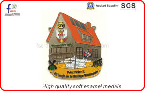 High Quality Soft Enamel Sliver Pated Medals Sport Medals pictures & photos