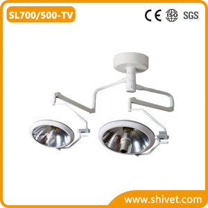 Veterinary Double Dome Surgical Light with Camera with Monitor (SL700/500-TV) pictures & photos