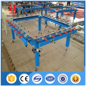 Manual Wheel Screen Mesh Stretching Machine pictures & photos