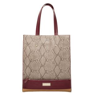 Elegant Snake Skin Pattern Lady PU Tote Handbag (C70927) pictures & photos