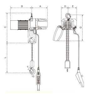 Electric Chain Hoist with Dual Speed (HL series) pictures & photos