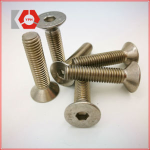 High Quality Alloy Steel Hex Socket Flat Head Screw DIN7991 pictures & photos