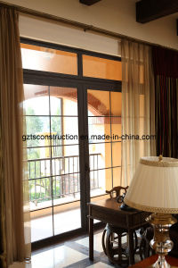 Aluminum Sliding Door with Double Glazing Glass pictures & photos