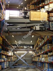Marco Twin Scissor Lift Table in Warehouse pictures & photos
