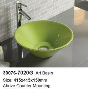 Economic Hotel Round Ceramic Washing Sink (30076) pictures & photos