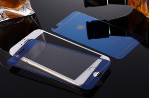 Tempered Glass Screen Protector for iPhone 6/6s Plus Electroplating Blue Color pictures & photos