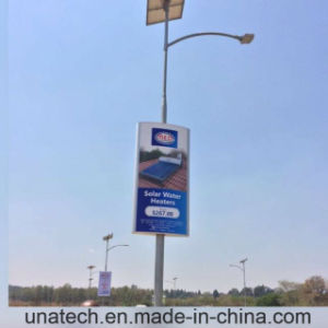 Outdoor Solar Lamp Coloumn Pole Ads LED Flex Mesh Fabric Banner Light Box pictures & photos