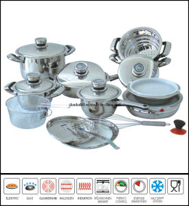 Kitchenware 22piece Stainless Steel Cookware Set pictures & photos