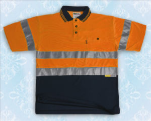 Water Proof Mens Orange Reflective Safety Polo Shirt pictures & photos