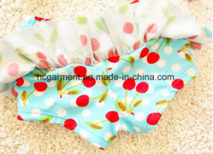 Baby Girl Cherry Print Bikini, Lovely Swimming Skirt pictures & photos